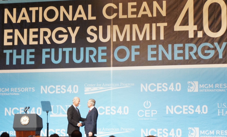 Joe Biden & Harry Reid at the Clean Energy Summit