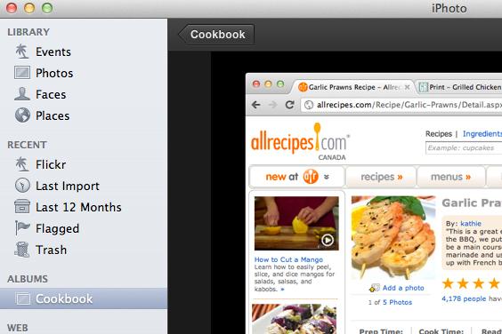 cookbook-iphoto-feature