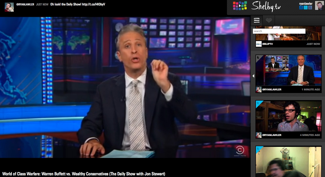 """nice to see Daily Show clips show up in Shelby,"""" Pacheco said"""