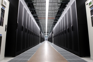 128 cabinets of high- density, high-efficiency servers