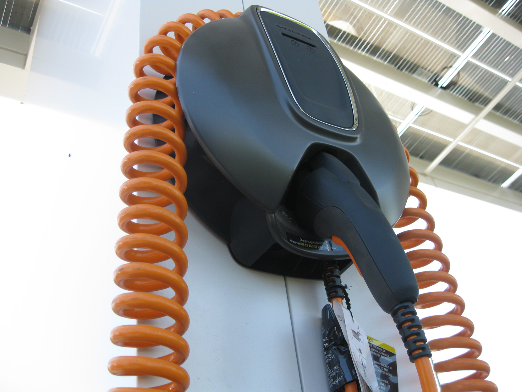 One of three Voltec charging units.