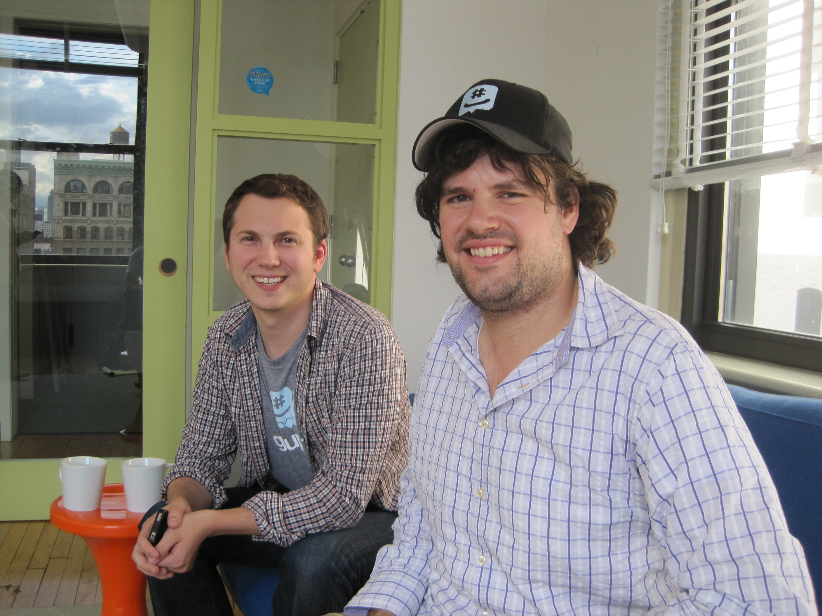 GroupMe founders Jared Hecht and Steve Martocci