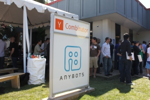 The scene outside of Y-Combinator's summer 2011 demo day
