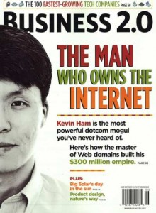 Kevin Ham on cover of Business 2.0