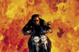 Tom Cruise in Mission Impossible screengrab