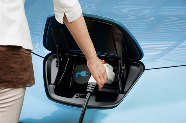 Nissan LEAF, image courtesy of Nissan.