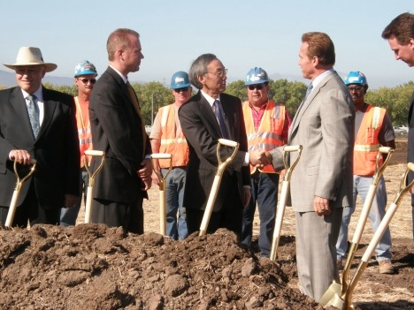 Solyndra's ground breaking ceremony in 2009