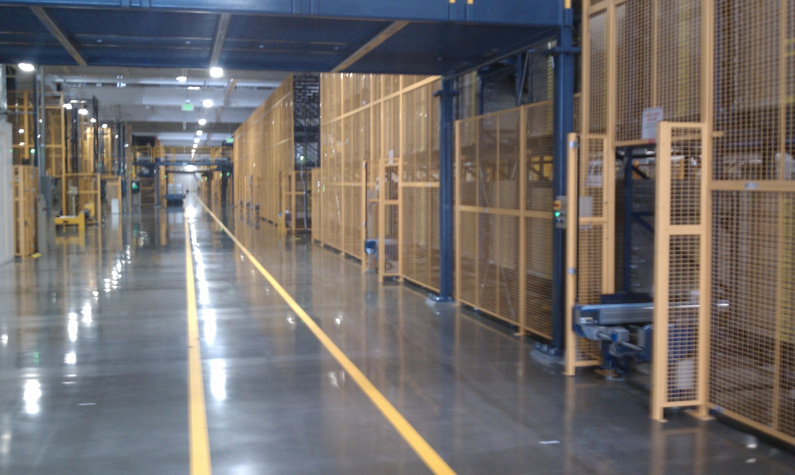 Solyndra's factory floor in April, 2011.