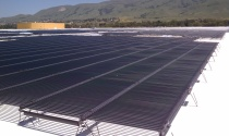 Solyndra's rooftop is covered in its panels