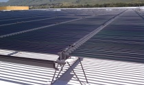 Solyndra's rooftop at its factory