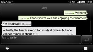 WhatsApp on a Symbian phone