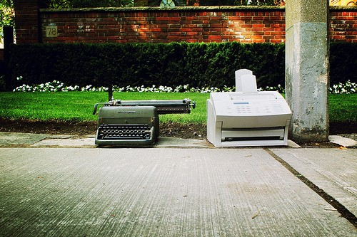 Typewriter and fax machines