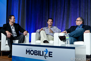 GigaOM Pro Analyst JP Finnell of Mobility Partners, Brian Magierski of Appconomy, and Marc Naddell of NAVTEQ at Mobilize 2011