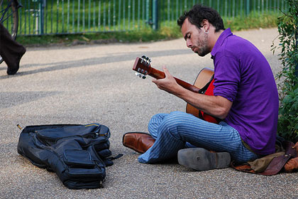 Busker under CC license by Flickr user Johnny_Boy_A