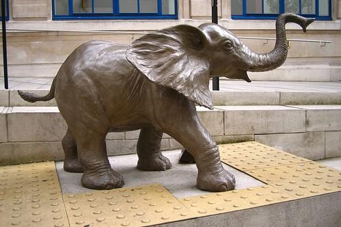 bronze elephant