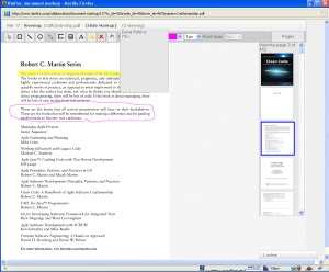 Screen shot of Binfire collaborative pdf markup