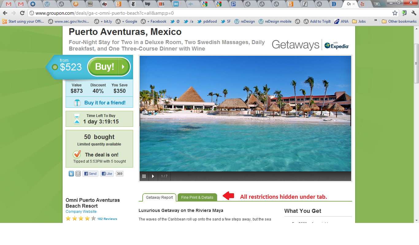 by contrast groupon partner expedia in its own non groupon product ...