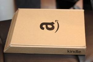 Kindle box. Smaller than previous boxes, and just as easy to open. Amazon sure knows packaging.