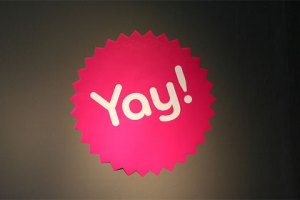 Moo.com's Yay! sticker, used under CC license from Richard Moross