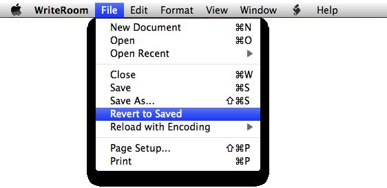 Revert To Saved