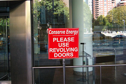 Revolving doors under CC license from Marianne O'Leary