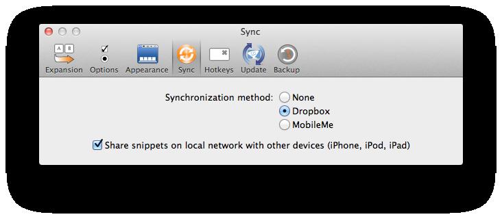 Sync To Dropbox