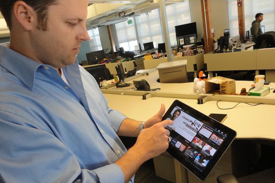 Brad Hunstable shows off Ustream's Honeycomb app