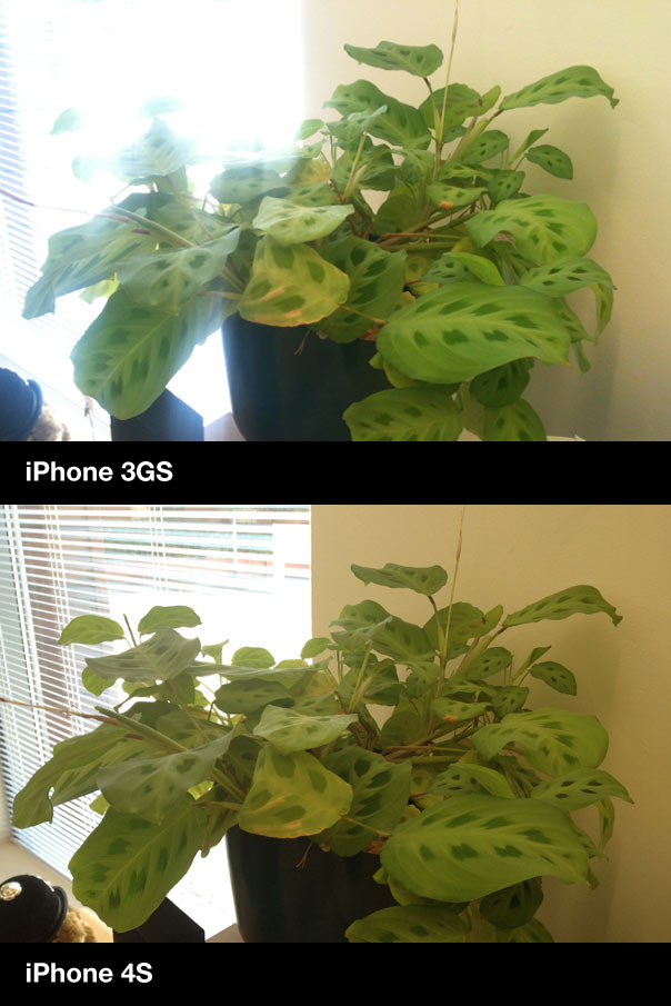 iPhone 3GS vs. iPhone 4S camera