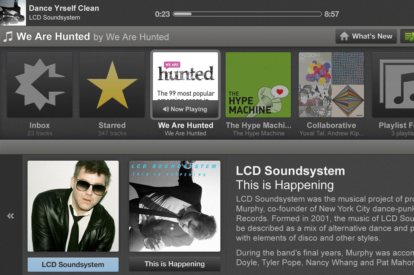 Boxee_Spotify_MoreInfo_LCD Soundsystem