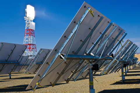 Chevron, BrightSource solar oil plant, the tower and the mirrors