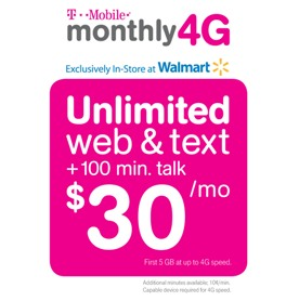 T-Mobile Walmart monthly plan