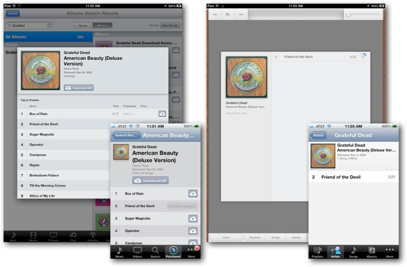 Music App and iTunes