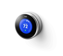 The Nest thermostat (in cooling mode).