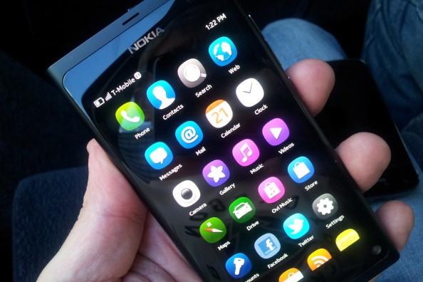 Nokia N9 running MeeGo