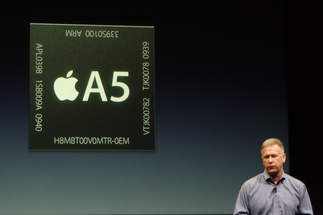 Apple Event 10/4 - Phil Schiller introduces the A5 chip in the iPhone 4S