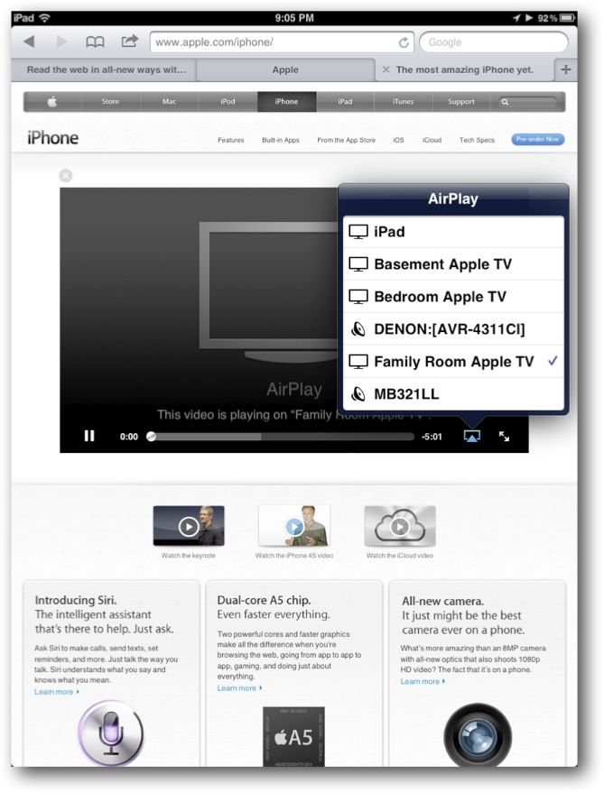Safari AirPlay Videos