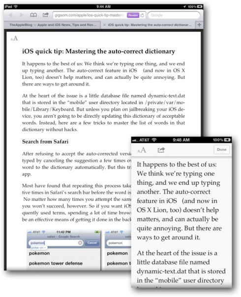 Safari Reader