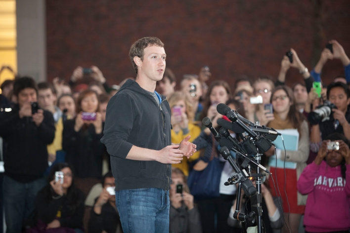Mark Zuckerberg returned to Harvard for a recruiting trip last year.
