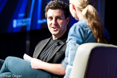 Brian Chesky and Katie Fehrenbacher at GigaOM RoadMap