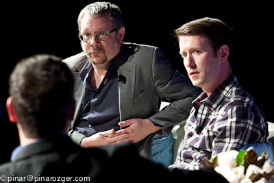Inkling's Matt MacInnis and Small Demons' Richard Nash at GigaOM RoadMap