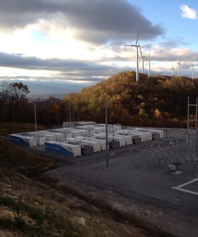 Energy storage for wind, from AES Energy, image courtesy of AES Energy.