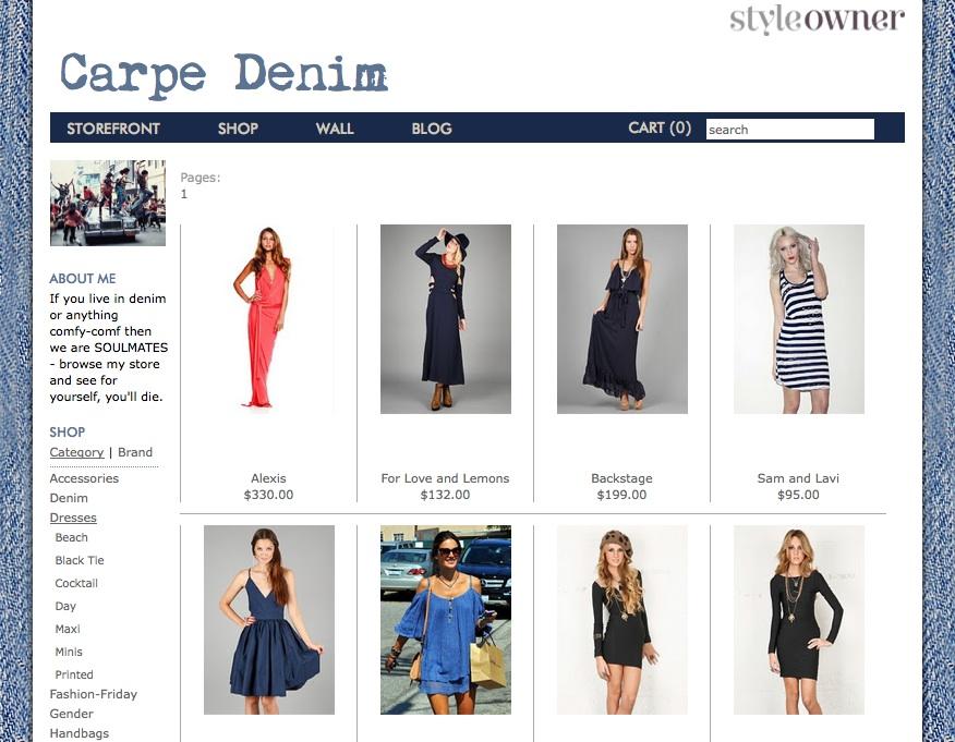 """StyleOwner shop """"Carpe Denim"""" (click to enlarge)"""