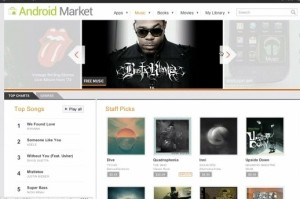 gmusic android market web