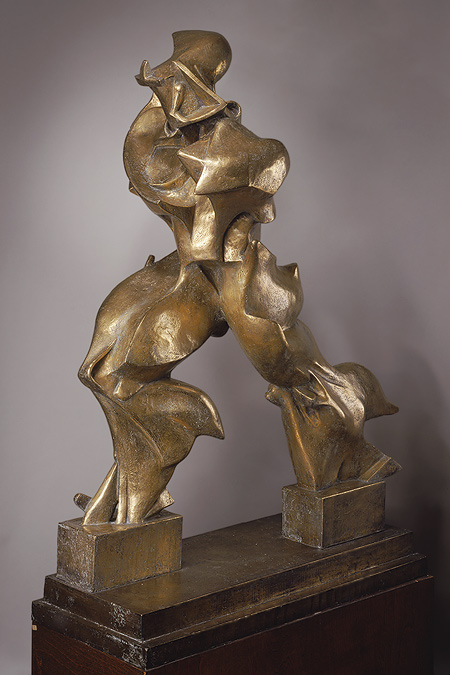 """Unique Forms of Continuity in Space"" sculpture by Futurist artist Umberto Boccioni"