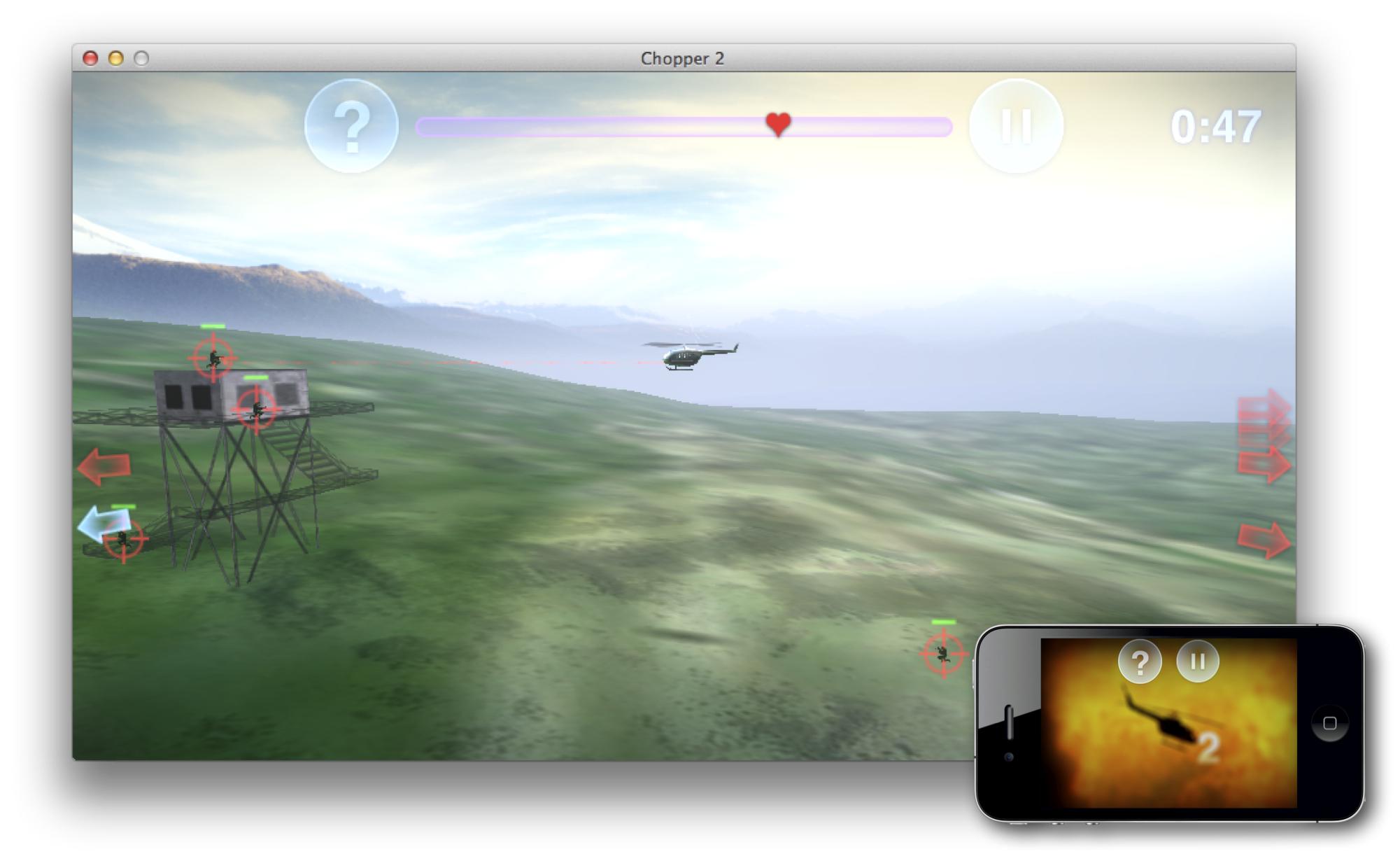 iOS Device Controls Mac Game