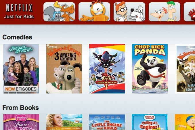 Netflix's child-friendly interface.