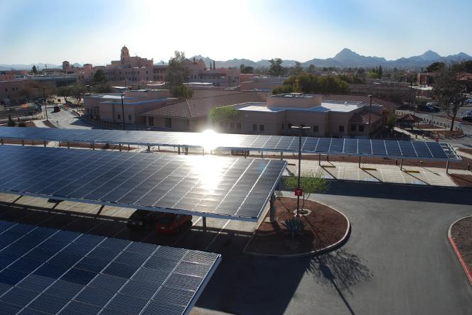 REC solar carport Arizona