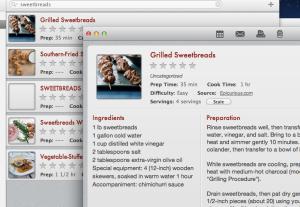 Paprika's recipe management app for Mac