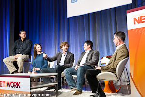 CoCo's Don Ball, LiquidSpace's Mark Gilbreath, Emergent Research's Steve King, Herman Miller's Jennifer Megnolfi, and Larry Hawes from Dow Brook Advisory at GigaOM's Net:Work 2011