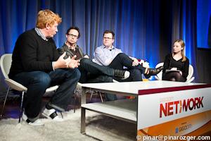 Yahoo's Luke Beatty, Trada's Niel Robertson, Klout's Matt Thomson, and GigaOM's Colleen Taylor at Net:Work 2011